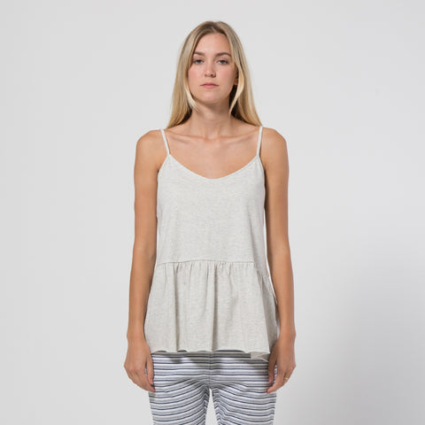 Five Each Frill Hem Singlet - Grey