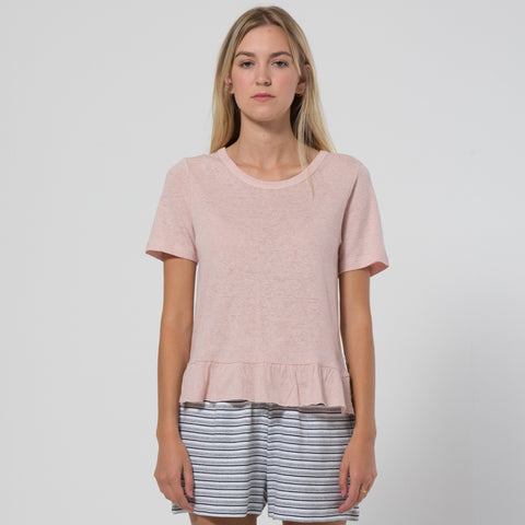 Five Each Frill Hem Tee - Blush