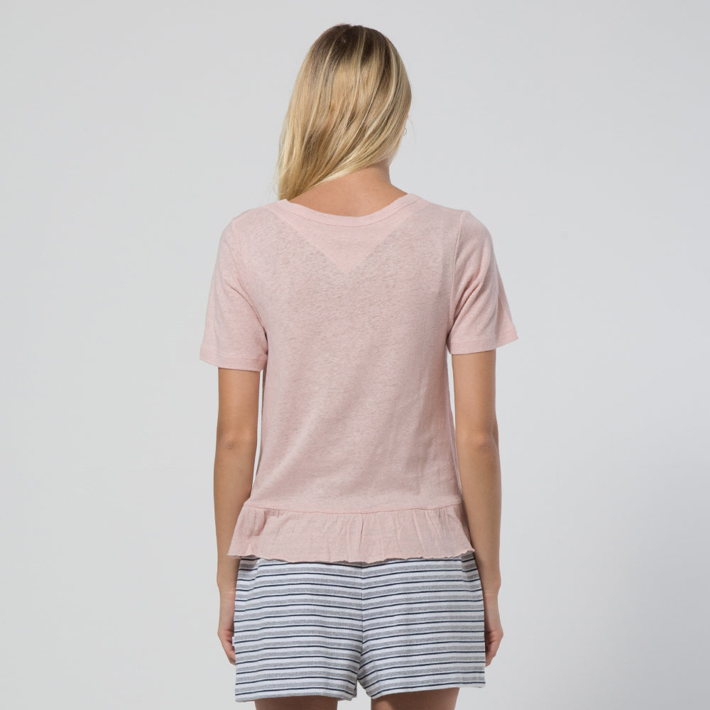 Five Each Frill Hem Tee Blush