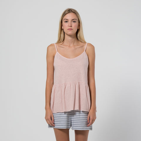 Five Each Frill Hem Singlet - Blush