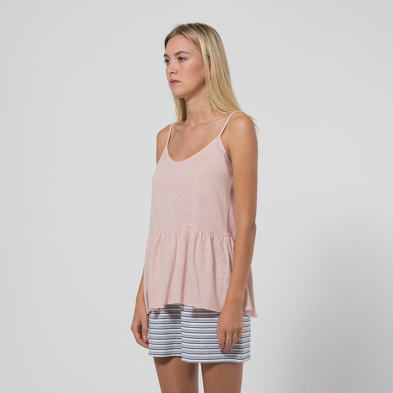 Five Each Frill Hem Singlet in Blush