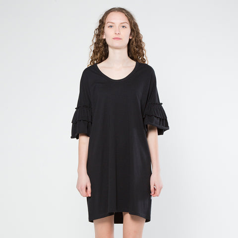 Five Each Frilly Dress - Black