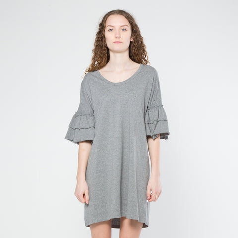 Five Each Frilly Dress - Grey Marle