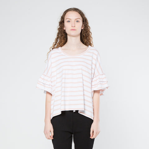 Five Each Frilly Tee - Stripe