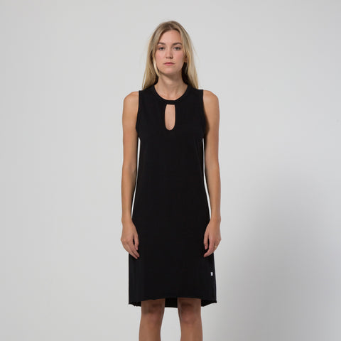 Five Each Classic Keyhole Tank Dress - Black