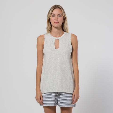 Five Each Classic Keyhole Tank - Grey