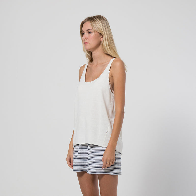 Five Each Rib Hem Knit Tank in Cream