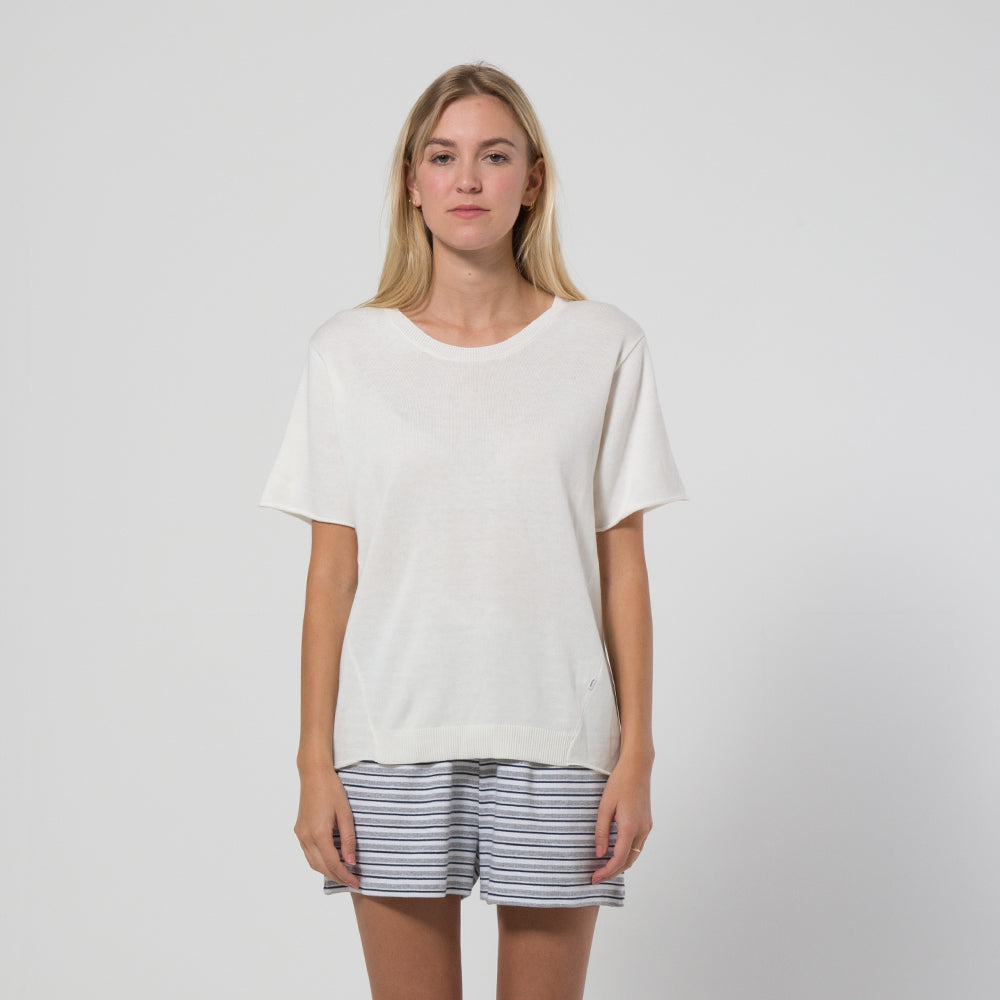 Five Each Hem Knit Tee - Cream
