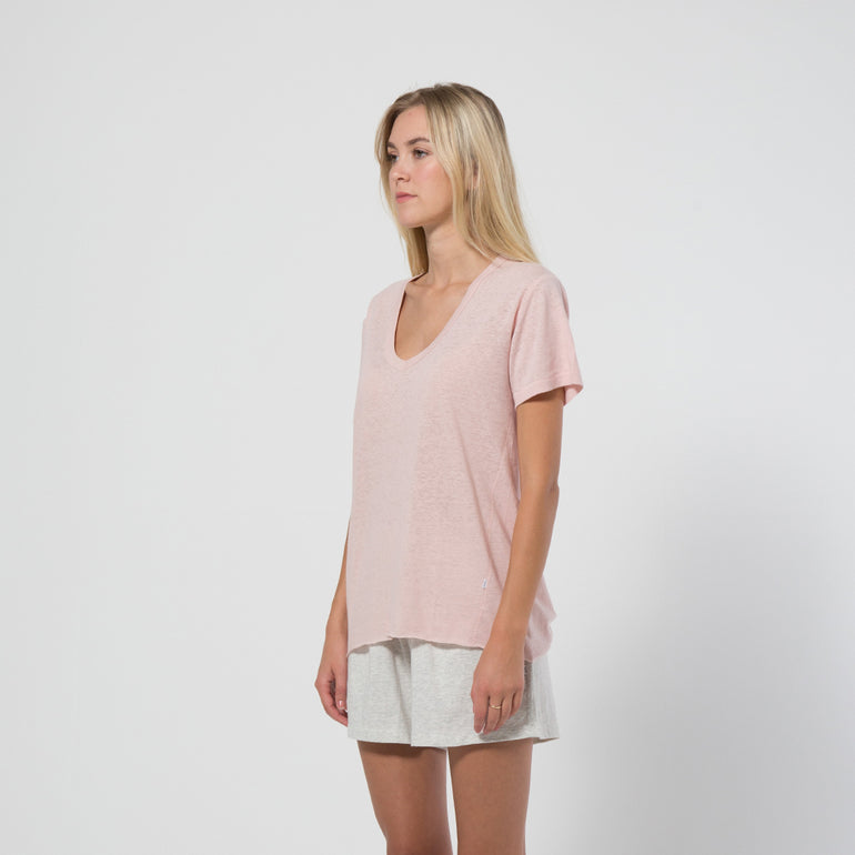 Five Each Olsen Tee in Blush