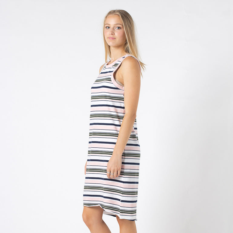Five Each Reverse Dress in Stripe
