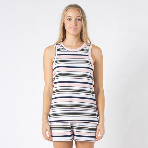 Five Each Reverse Tank - Stripe