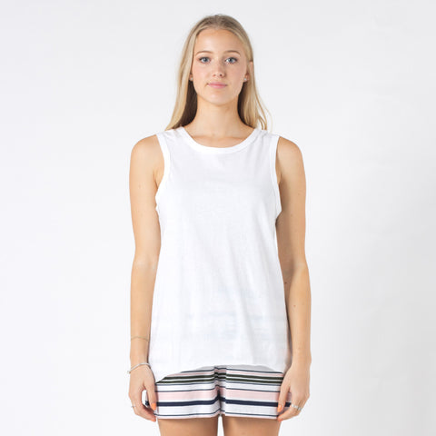 Five Each Reverse Tank - White