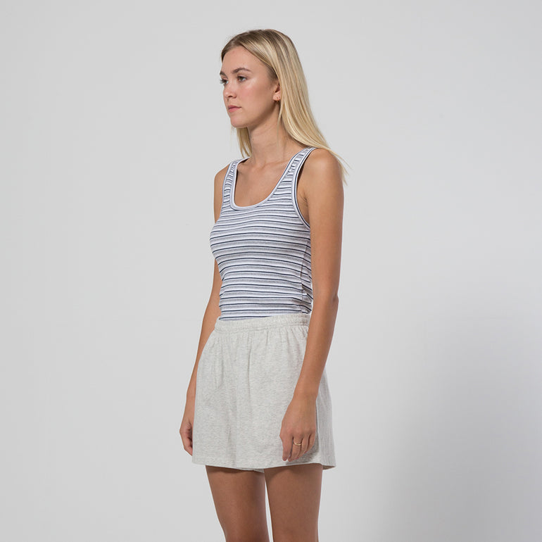 Five Each Classic Rib Tank in Stripe