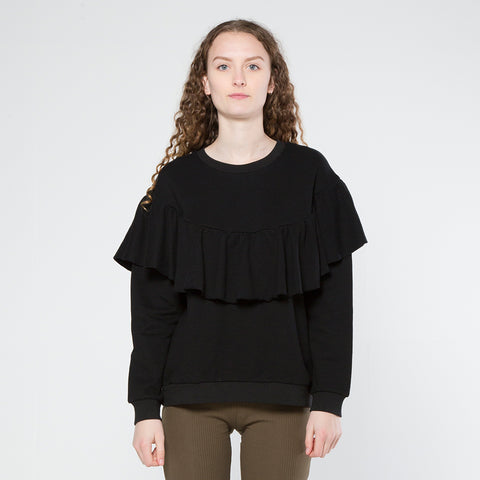Five Each Ruffle Crew - Black