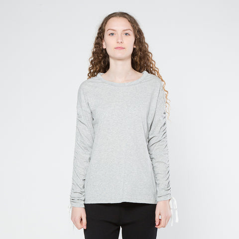 Five Each Scrunch L/S Tee - Grey Marle