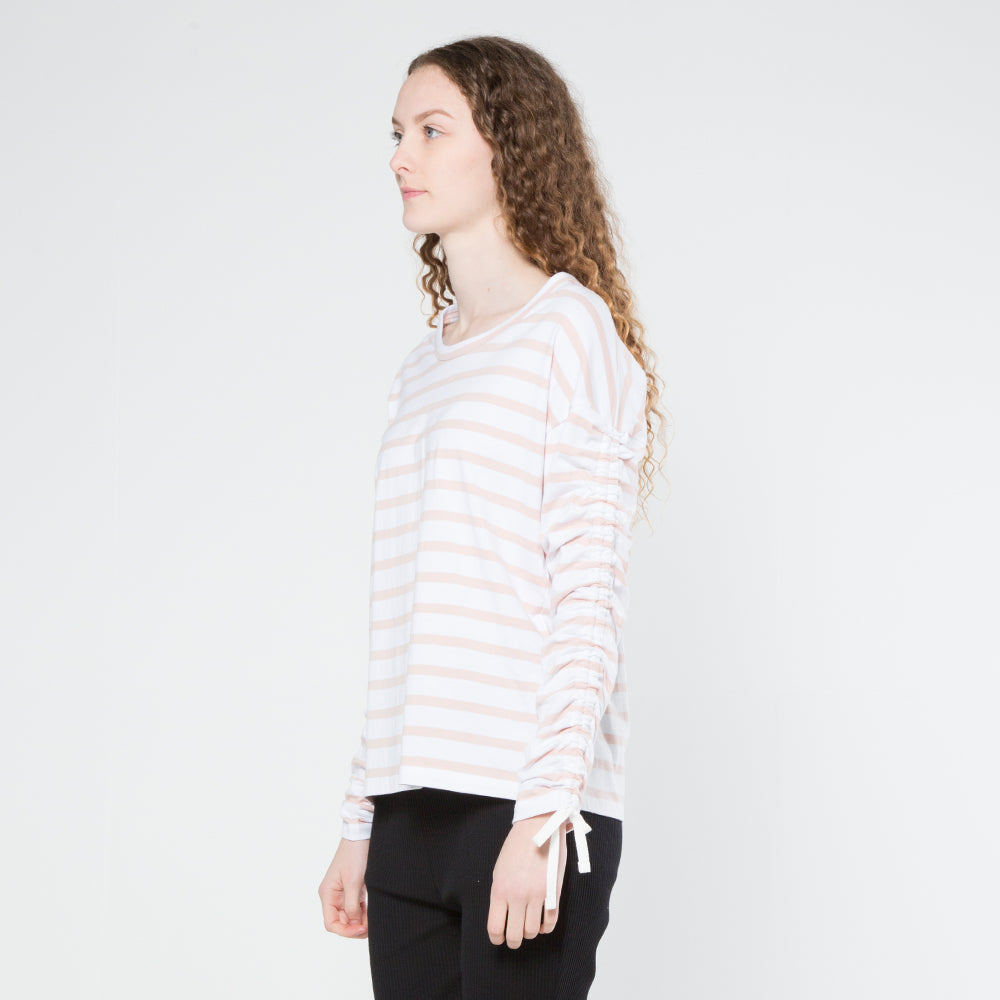 Five Each Scrunch L/S Tee in Stripe