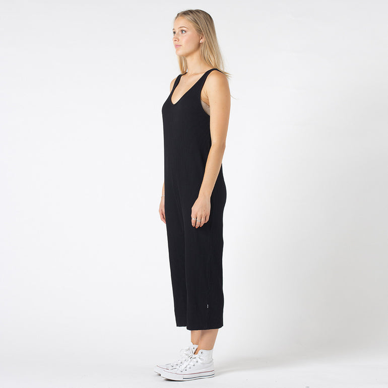 Five Each Throw On Jumpsuit in Black