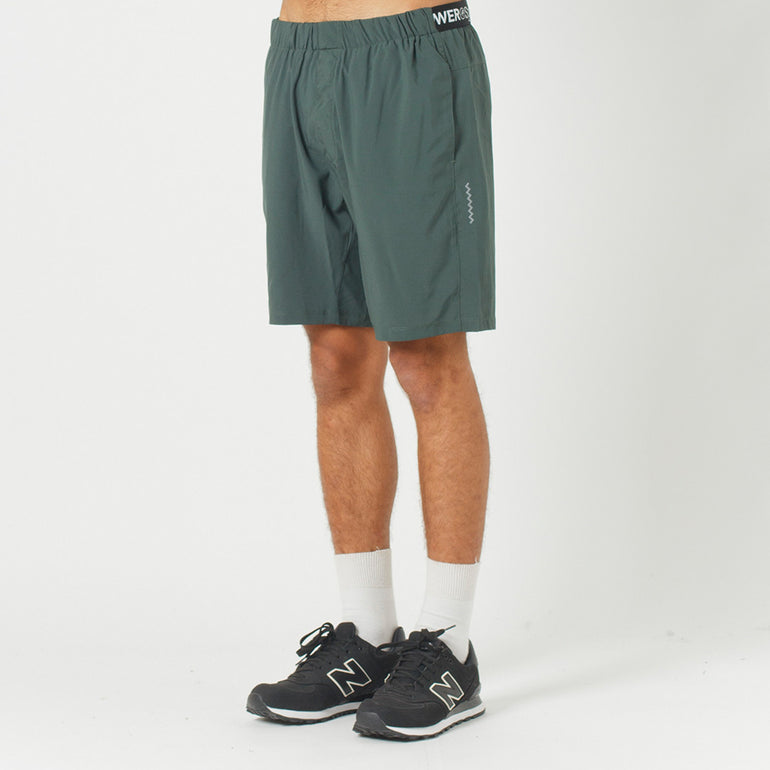 Lower Sport Gym Short / Triple U (reflective) in Green