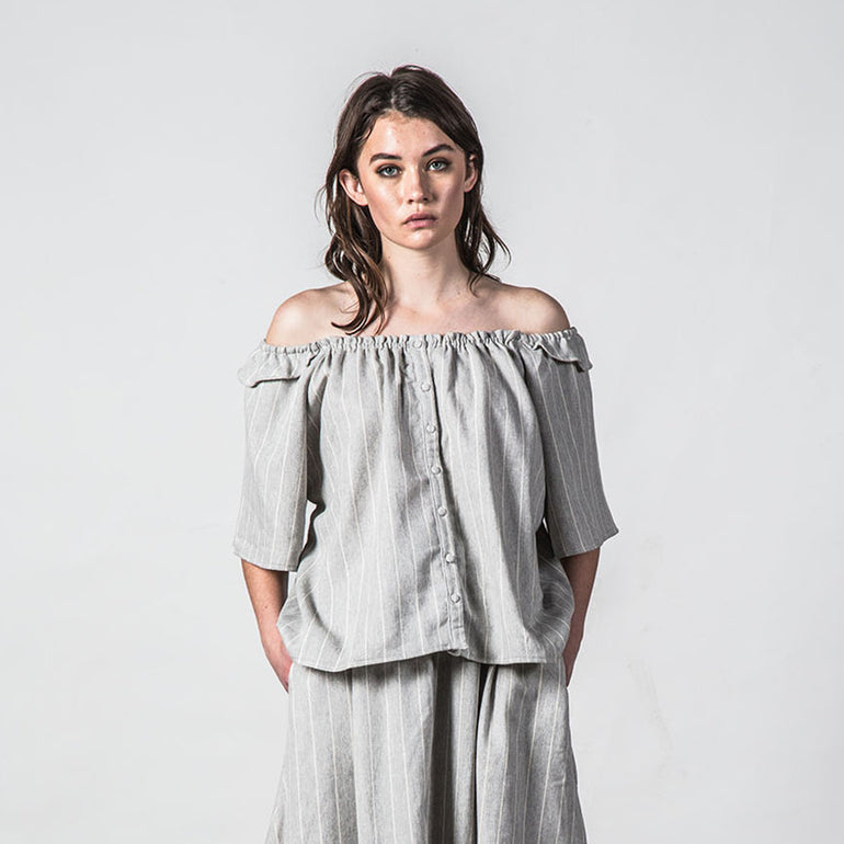 Thing Thing Heathers Top - Grey Stripe