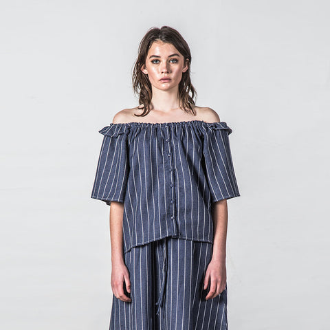 Thing Thing Heathers Top - Navy Stripe