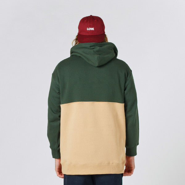 Lower Halfway Hood / LOW (Forest Green/Tan)