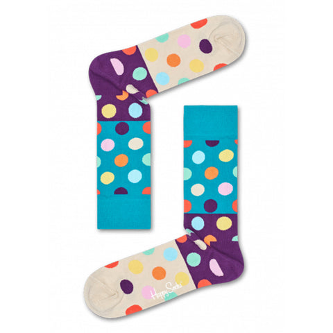 Happy Socks Big Dot / Block - Blue/Purple