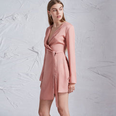 The Fifth Label Harmony L/S Dress - Dusty Rose