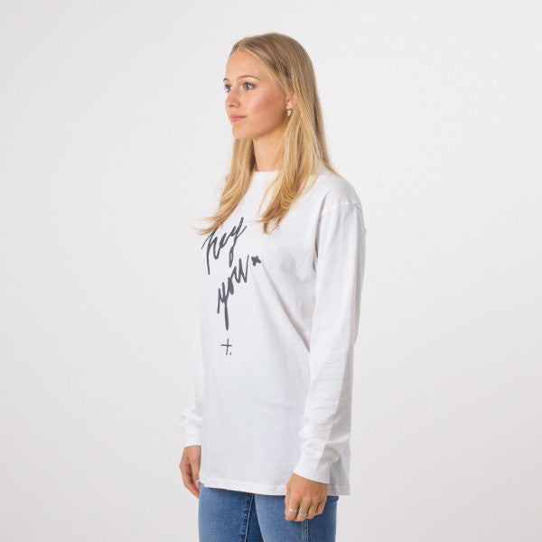 Federation L/S Good Cuff / Hey You in White