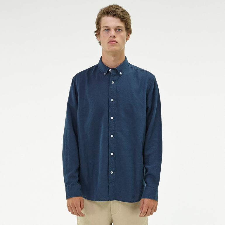 Huffer Lin In Shirt - Navy