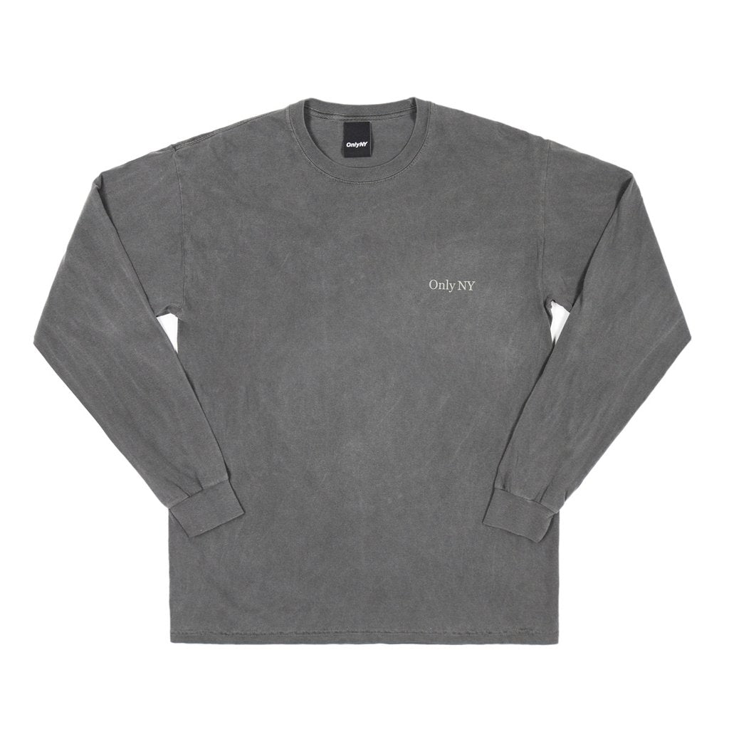 Only NY Guideline L/S Tee - Charcoal