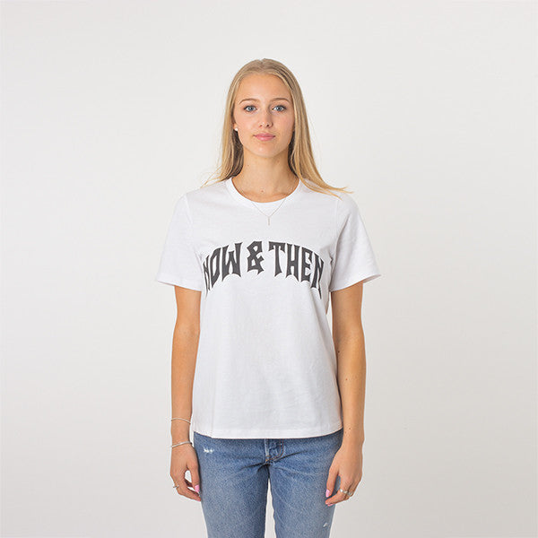 Now & Then Daily Tee / Cherish - White