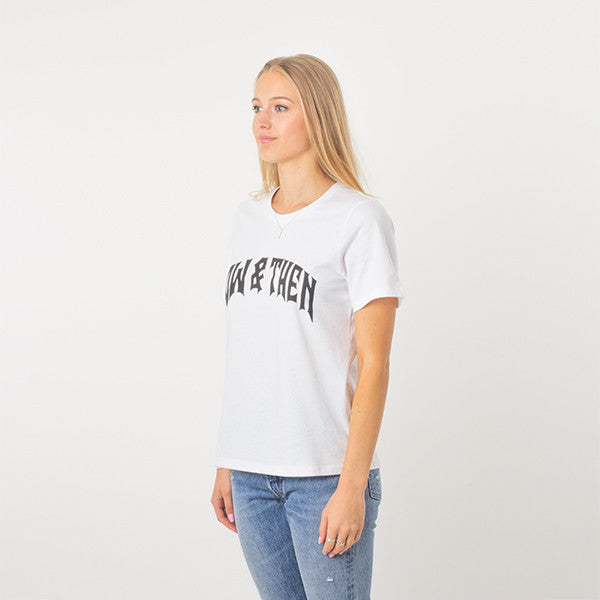 Now & Then Daily Tee / Cherish in White