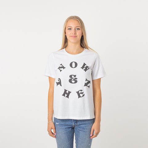 Now & Then Daily Tee / Vibes - White
