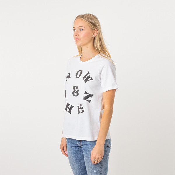 Now & Then Daily Tee / Vibes in White