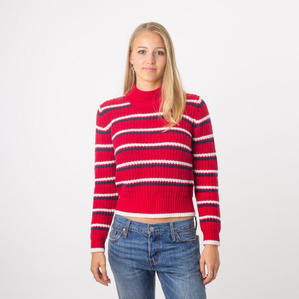 Rollas Saturday Stripe Sweater - Red
