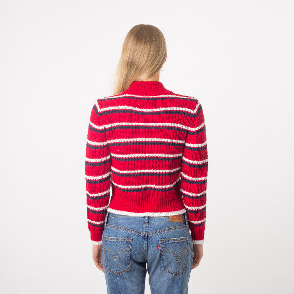 Rollas Saturday Stripe Sweater (Red)