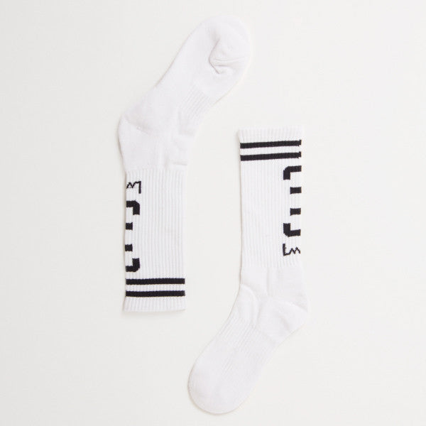 Lower Heel Sock - White