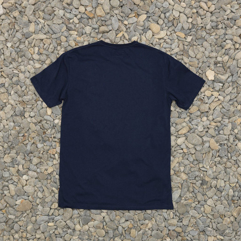 Just Another Fisherman Logo Type Tee in Navy