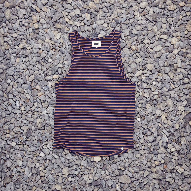 Just Another Fisherman / Kelp Singlet - Earth Stripe