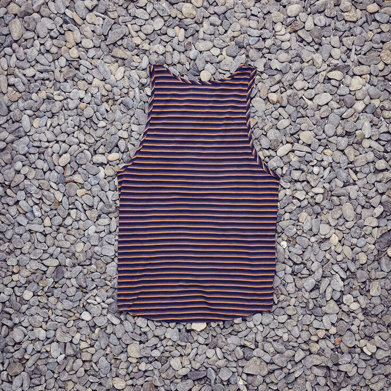 Just Another Fisherman / Kelp Singlet in Earth Stripe