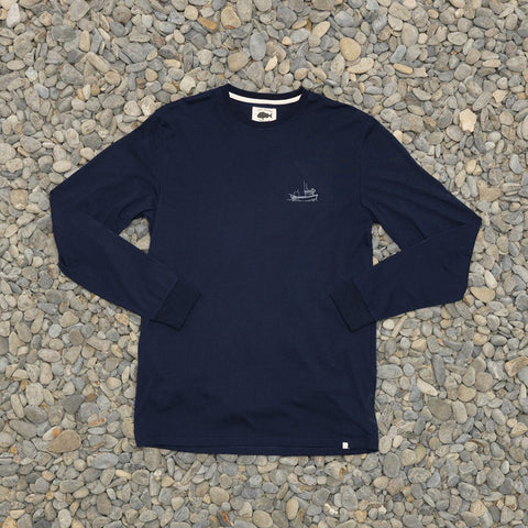 Just Another Fisherman Tug LS Tee - Navy