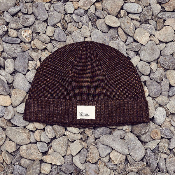 Just Another Fisherman Ledger Beanie - Brown Marle