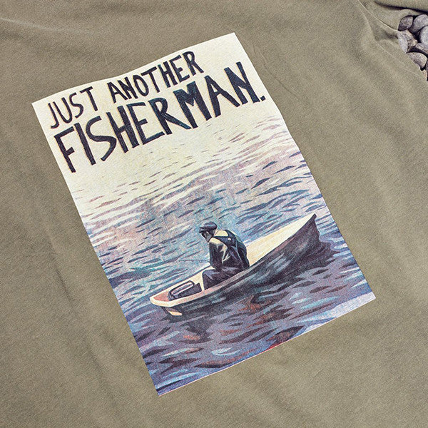 Just Another Fisherman Man In A Dingy Tee Khaki