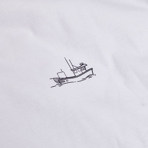 Just Another Fisherman / Tug Tee - White