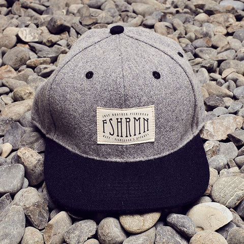 Just Another Fisherman Wool FSHRMN Cap - Grey