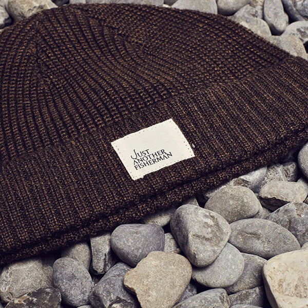 Just Another Fisherman Ledger Beanie in Brown Marle