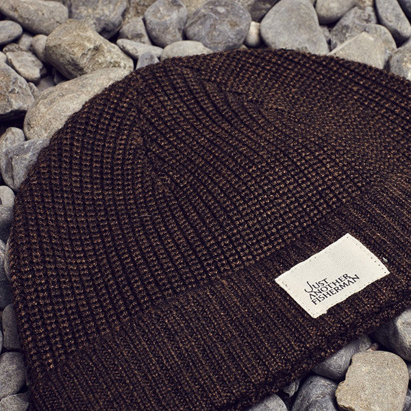 Just Another Fisherman Ledger Beanie Brown Marle