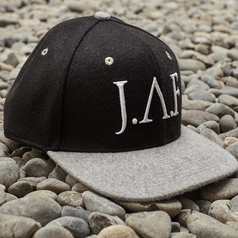 Just Another Fisherman Wool Baseball Hat - Black/Grey