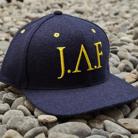 Just Another Fisherman Wool Baseball Hat - Navy/Yellow