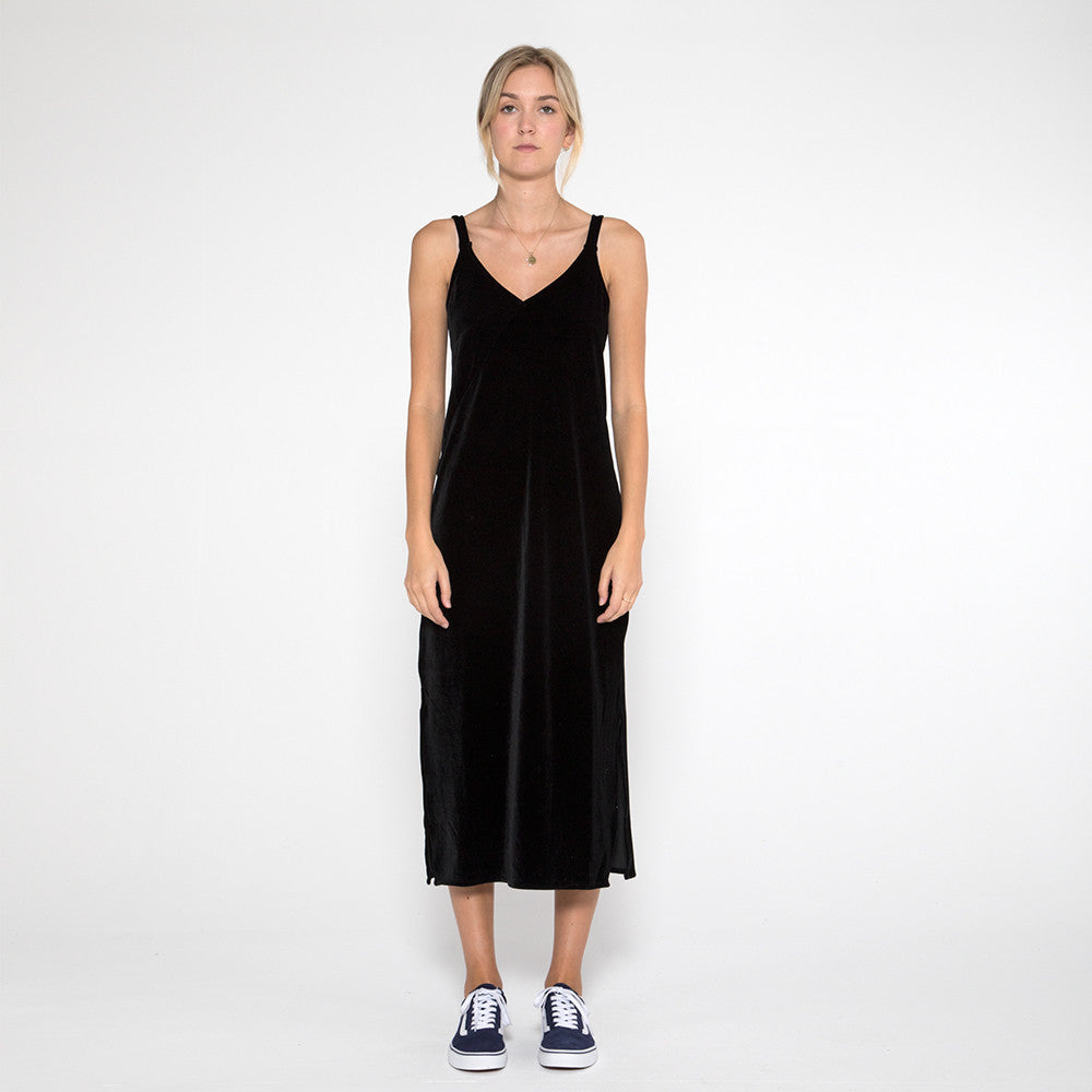 Now & Then Karen Slip Dress - Black